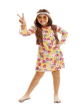 disfraz de hippie primavera niña