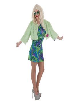 disfraz de hippie sexy flower para mujer