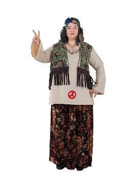 disfraz de hippie talla grande para mujer