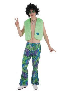 disfraz de hippie verde para hombre