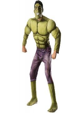 disfraz de hulk vengadores la era de ultron deluxe adulto. La Era de Ultrón es una película de acción, secuela de Los Vengadores, dirigida por Joss Whedon y producida por Kevin Feige. Forma parte de la segunda fase del universo cinematográfico de Marvel. El destino del planeta pende de un hilo cuando Tony Stark intenta hacer funcionar un inactivo programa para mantener la paz. Este disfraz es ideal para tus fiestas temáticas de disfraces de superheroes y comic adulto