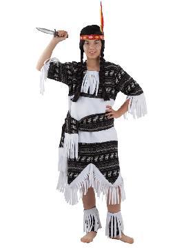 disfraz de india cherokee niña