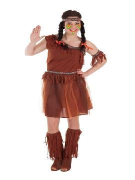 disfraz de india con falda de gasa para mujer