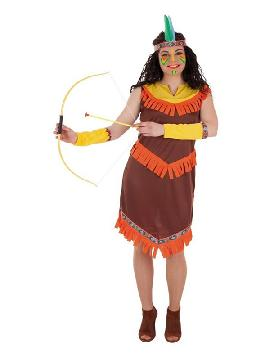 disfraz de india con flecos para mujer
