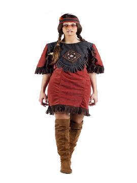disfraz de india deluxe mujer. Es ideal para una fiesta de indios y vaqueros del oeste en pareja. Donde no incluye los accesorios como la peluca. Este disfraz adulto es de ideal para fiestas de carnavales y despedidas de solteras con amigas. fabricación nacional