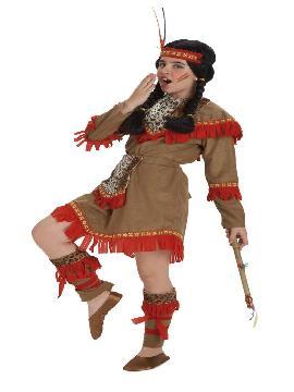 Disfraz de india lujo niña. Este comodísimo traje es perfecto para forma parte de una tribu en carnavales. Este disfraz es ideal para tus fiestas temáticas de disfraces de indios para niñas.