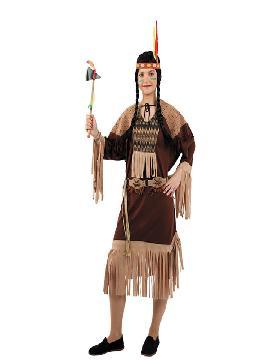 disfraz de india marron mujer adulto