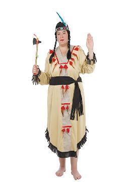 disfraz de india tribu mujer adulto. Te hará sentir una auténtico , una defensora de tu tribu y con el que causarás sensación en Carnaval, Despedidas, Espectáculos.Este disfraz es ideal para tus fiestas temáticas de disfraces de indios y vaqueros para el oeste como vaqueros. fabricacion nacional