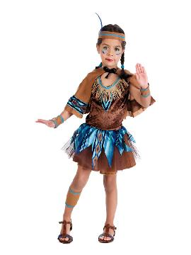 disfraz de india tutu bebe