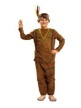 disfraz de indio con pantalones niño
