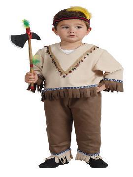disfraz de indio marron bebe