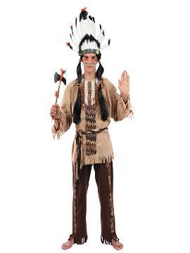 disfraz de indio marron hombre adulto. Te hará sentir un auténtico, un defensor de tu tribu y con el que causarás sensación en Carnaval, Despedidas, Espectáculos y Fiestas Temáticas de Disfraces. Este disfraz es ideal para tus fiestas temáticas de disfraces de indios y vaqueros para el oeste para hombre adultos. fabricacion nacional