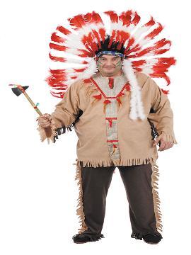 disfraz de indio tribu deluxe hombre. Te hará sentir un auténtico, un defensor de tu tribu y con el que causarás sensación en Carnaval, Despedidas, Espectáculos y Fiestas Temáticas de Disfraces. Este disfraz es ideal para tus fiestas temáticas de disfraces de indios y vaqueros para el oeste para hombre adultos. fabricacion nacional