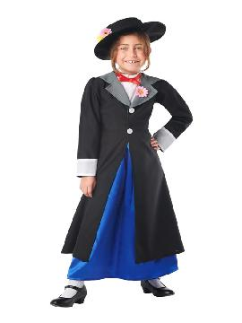 disfraz de institutriz mari poppins niña