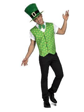 disfraz de irlandes con chaleco para hombre