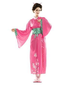 disfraz de japonesa rosa para mujer