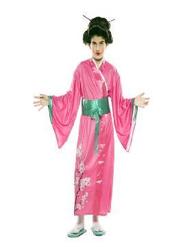 disfraz de japonesa rosa para niña
