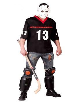 disfraz de jason jugador de hockey hombre
