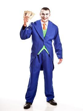 Disfraz de joker barato hombre adulto. Este disfraz muy versátil, ya que puedes caracterizar al archienemigo de Batman el villano Joker, a un hombre de época con chistera o un novio vampiro con frac.Este disfraz es ideal para tus fiestas temáticas de disfraces cuentos populares,famosos y músicos para hombre adultos.