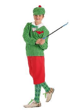 disfraz de jugador de golf para niño