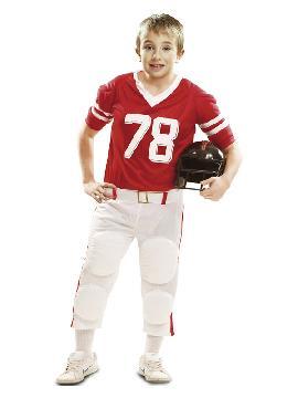 disfraz de jugador de rugby rojo para niño