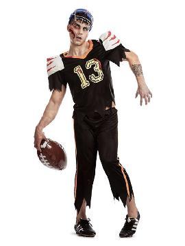 disfraz de jugador rugby zombie hombre