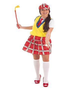 disfraz de jugadora golf para mujer