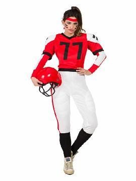disfraz de jugadora rugby para mujer