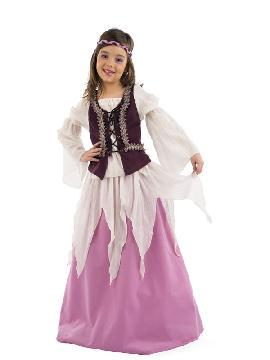 disfraz de julieta medieval niña