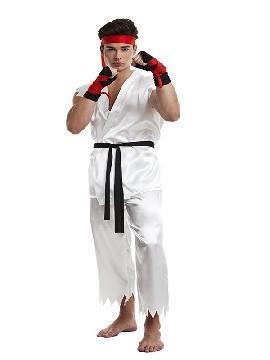 disfraz de karate kid para hombre