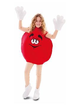 disfraz de lacasito emanems rojo infantil