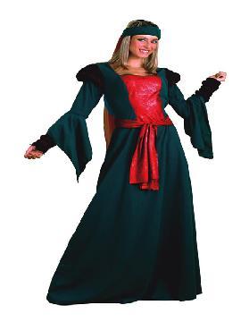 disfraz de lady mariam para mujer. Serás la dama con más color de todo el castillo. Los ojos de reyes y príncipes se posaran en tu belleza y elegancia queriendo ser tu pareja en las fiestas medievales.