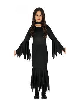 disfraz de lady morticia para niña