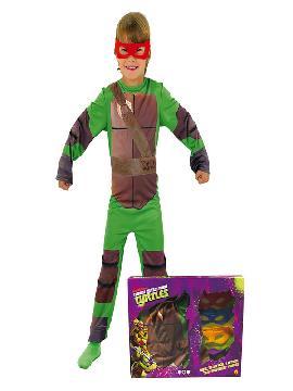 disfraz de las tortugas ninja en caja niño