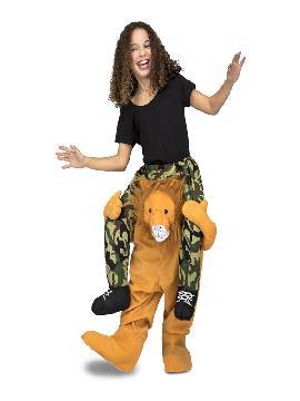 disfraz de leon a hombros infantil