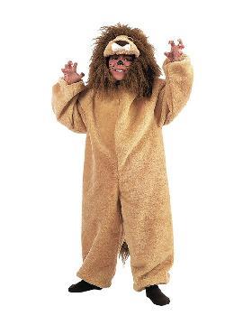 disfraz de leon de peluche infantil