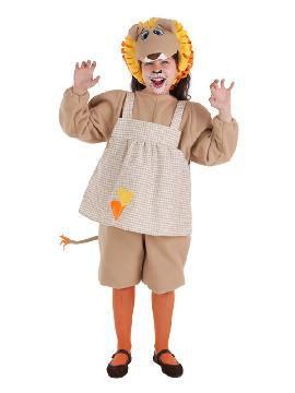 disfraz de leona divertida para niña