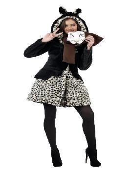 disfraz de leopardo abrigo marrón deluxe mujer