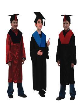 disfraz de licenciado negro y azul infantil. Compra tu disfraz barato y podrás adelantarte al tan esperado y ansiado momento de la graduación e ir ensayando tus mejores discursos en fiestas escolares.