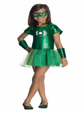 disfraz de linterna verde comics tu tu niña