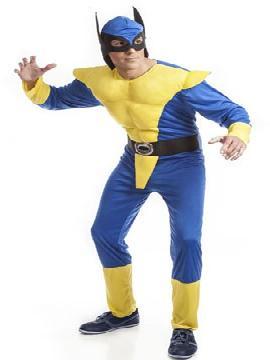 disfraz de lobezno barato hombre. Este traje de los xmen es ideal para tus fiestas de superheroes y carnaval. Este disfraz es ideal para tus fiestas temáticas de superheroes adulto.