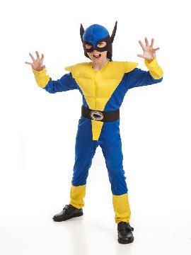 disfraz de lobezno barato niño. Este disfraz es ideal para tus fiestas temáticas de disfraces de superheroes niño y adulto.
