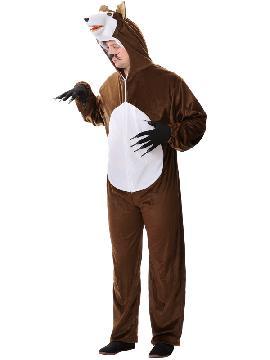 Disfraz de lobo deluxe hombre. Este disfraz de Lobo para adulto imita a la perfección al personaje del cuento de caperucita roja y mascota de animación.Este disfraz es ideal para tus fiestas temáticas de disfraces de animales para adultos.