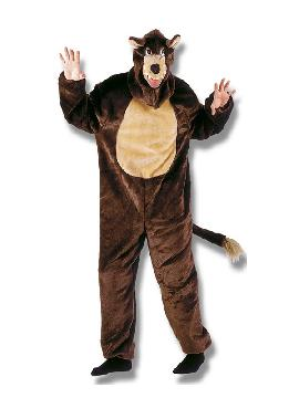 disfraz de lobo marron deluxe infantil