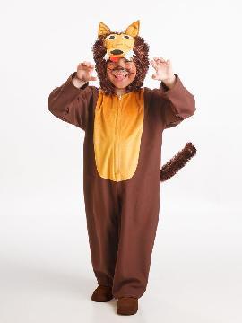 disfraz de lobo marron infantil varias tallas. Y Caperucita se encontró en Carnavales en el bosque a este niño vestido de lobo de cuento.Este disfraz es ideal para tus fiestas temáticas de disfraces de animales para niños infantiles.