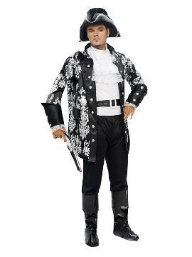 disfraz de lord pirata negro hombre
