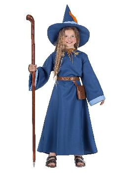 disfraz de mago azul para infantil