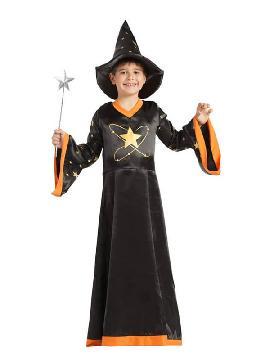 disfraz de mago con estrella para niño