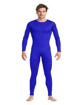disfraz de maillot o mono azul hombre