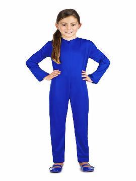 disfraz de maillot o mono azul infantil